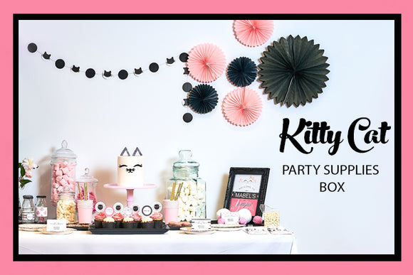 Kitty Cat Party Supplies Ideas Set Up Bee Box Parties