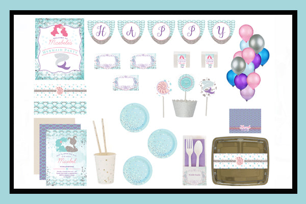 Mermaid Party Supplies Ideas Bee Box Option Product Overview