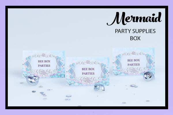 Mermaid Party Supplies Ideas Food Tents Bee Box Parties