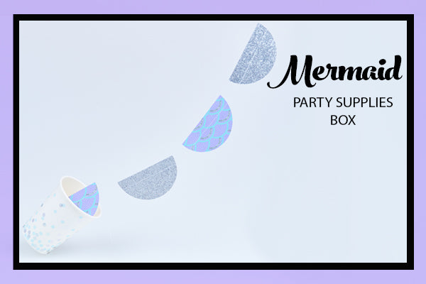 Mermaid Party Supplies Ideas Garland Cup Bee Box Parties