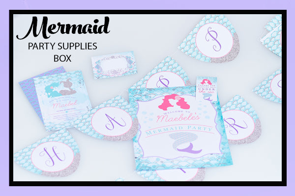 Mermaid Party Supplies Ideas Printables Bee Box Parties