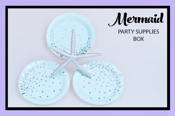 Mermaid Party Supplies IdeasBlue Silver Confetti Plate Bee Box Parties