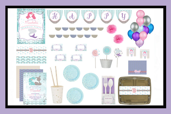 Mermaid Party Supplies Ideas Luxe Box Option Product Overview