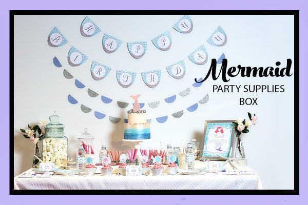 Mermaid Party Supplies Ideas Easy Set Up Bee Box Parties