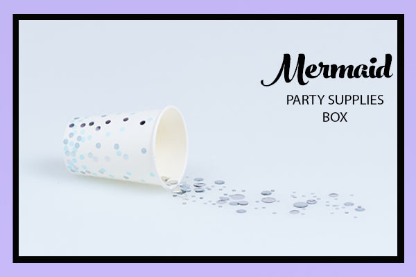 Mermaid Party Supplies Ideas Blue Silver Dot Cup Bee Box Parties