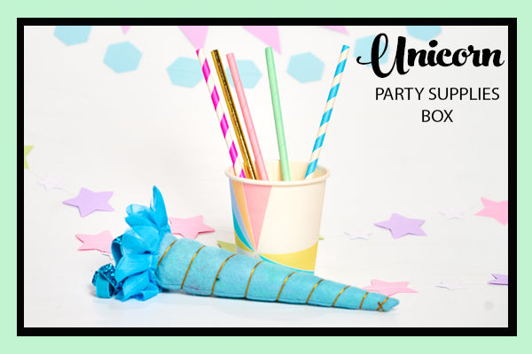 Unicorn Party Supplies and Ideas Rainbow Cup and Paper Straws Bee Box Parties