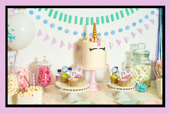 Unicorn Party Supplies and Ideas Bee Box Set Up