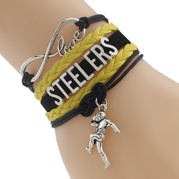 Love Steelers Football Team Bracelet Sport Wristband Friendship Bracelets