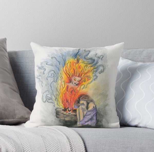 She Is Fire throw pillow
