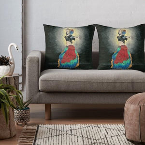 Tribal Dancer throw pillow - Nora Catherine