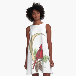 Cardinal Moon A-line art dress - Nora Catherine