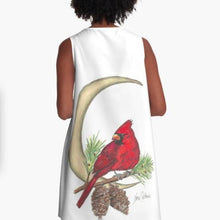 A-line Art Dress Cardinal - Nora Catherine