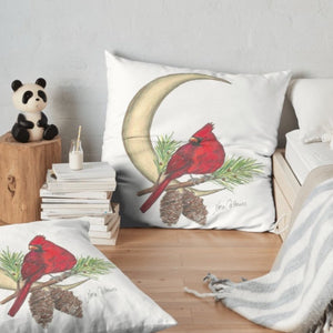 Cardinal Moon floor pillow - Nora Catherine