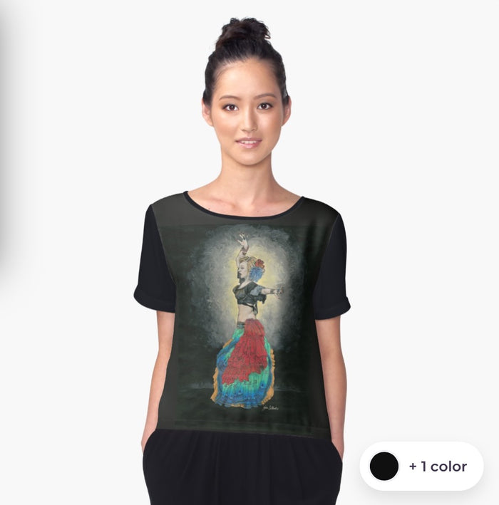 Tribal Dancer chiffon art top