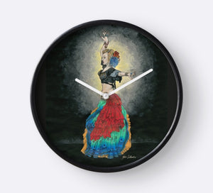 Tribal Dancer wall clock - Nora Catherine