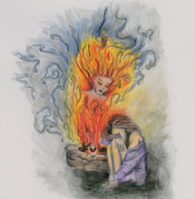 She is Fire - Fire goddess - Greeting Cards and Post Card - Nora Catherine