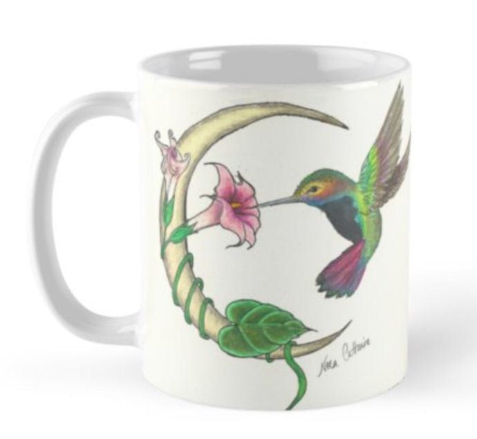 Hummingbird Crescent Moon Mug - Nora Catherine