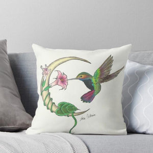 Hummingbird Moon throw pillow - Nora Catherine