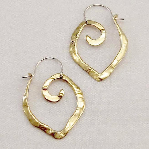 XS light weight point hoops in copper, bronze or sterling silver - Nora Catherine