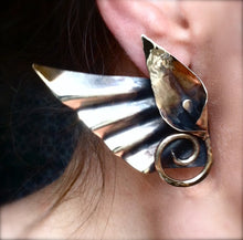 Lg Winged Goddess Calla - Post earrings - Nora Catherine