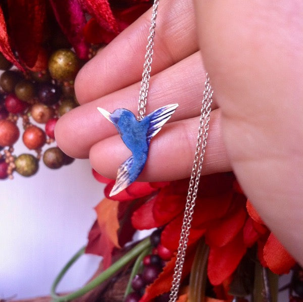 Hummingbird necklace and earrings set - Free pin included! - Nora Catherine