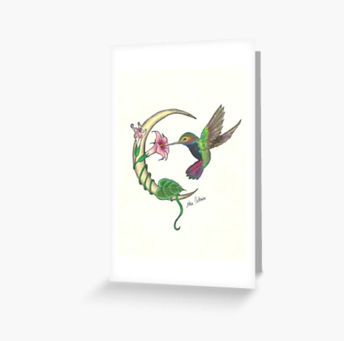 Hummingbird Moon greeting cards and postcard