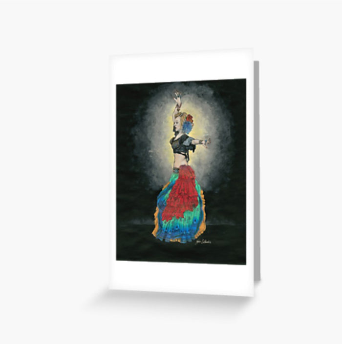 Tribal Dancer greeting cards and postcard