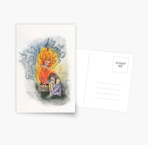 She Is Fire greeting cards and postcard - Nora Catherine