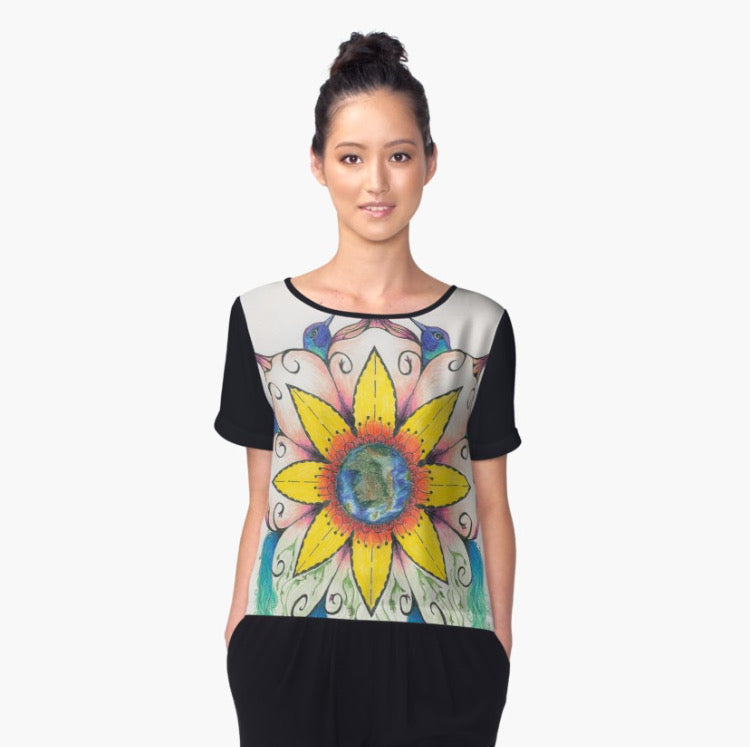 Symphony of Summer Chiffon Art Top - Nora Catherine