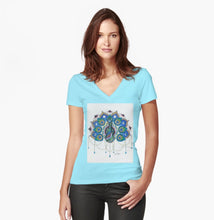 Peacock Mandala Woman's Fitted T-Shirt - Nora Catherine