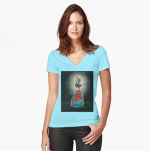 Tribal Dancer women's fitted T-shirt - Nora Catherine