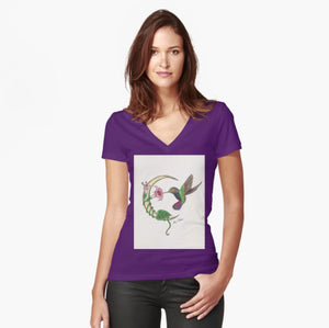 Hummingbird Moon women's fitted T-shirt - Nora Catherine