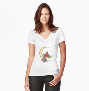 Cardinal Woman's Fitted T-Shirt - Nora Catherine