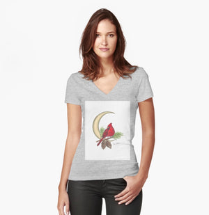 Cardinal Moon women's fitted T-shirt - Nora Catherine