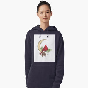 Cardinal Moon pullover hoodie - Nora Catherine