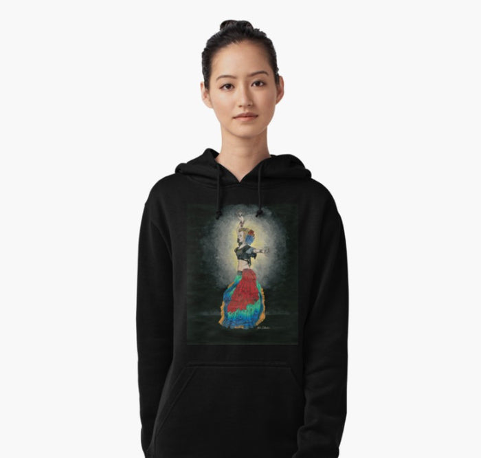 ATS tribal dancer pull over hoodie