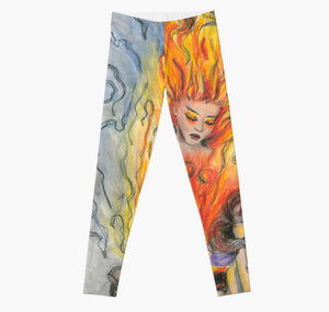 She Is Fire art legging - Nora Catherine