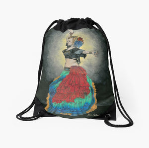 Tribal Dancer drawstring backpack/bag - Nora Catherine