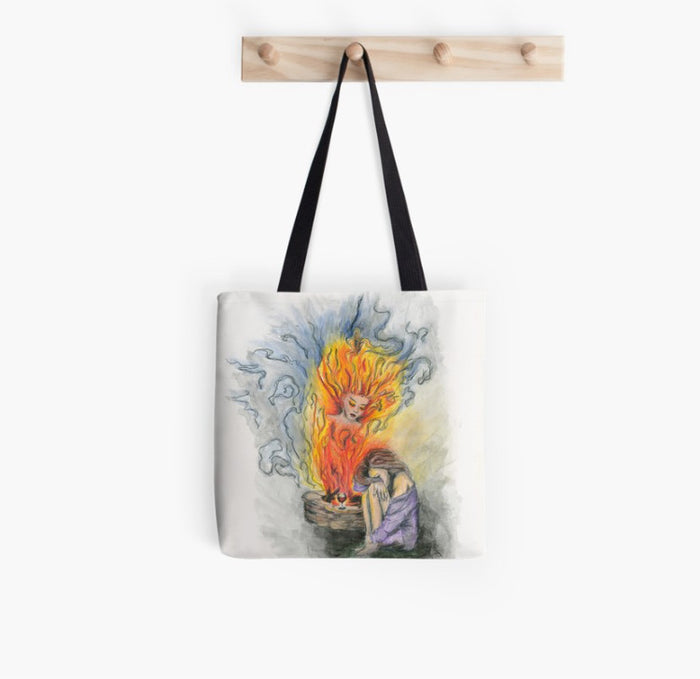 She Is Fire tote bag