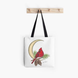 Crescent Moon Cardinal tote bag - Nora Catherine