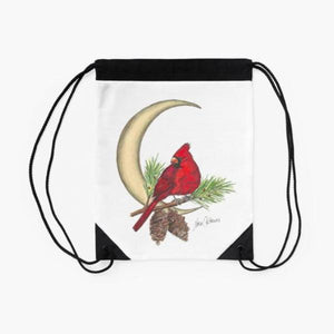 Cardinal Moon drawstring backpack/bag - Nora Catherine