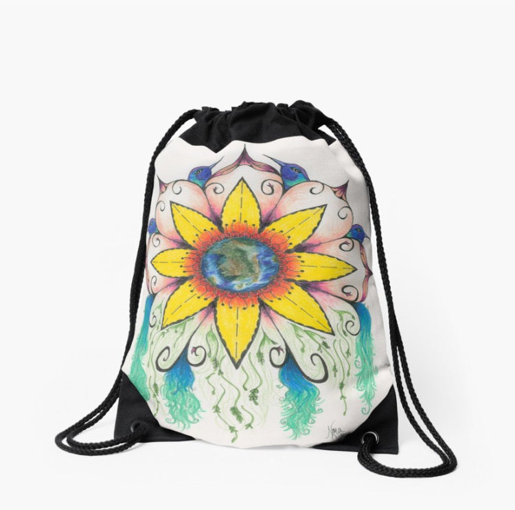 Symphony of Summer drawstring back pack bag - Nora Catherine