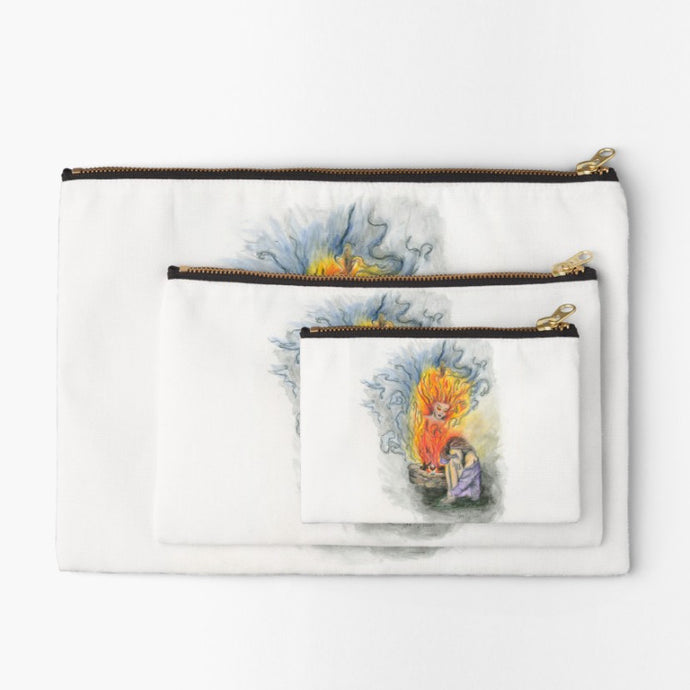 She is Fire goddess zip studio pouch - Nora Catherine
