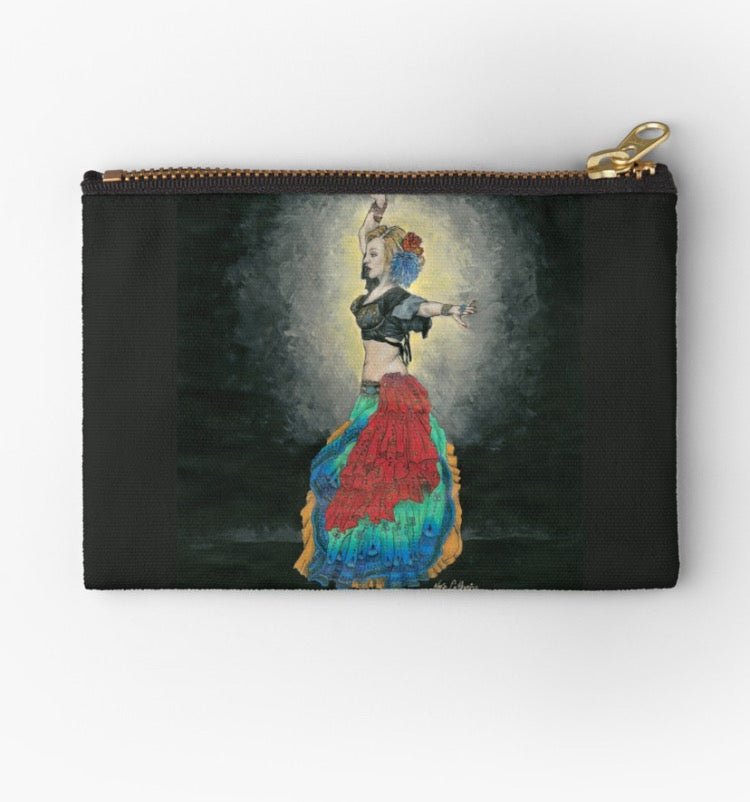 ATS tribal belly dancer zip studio pouch - Nora Catherine