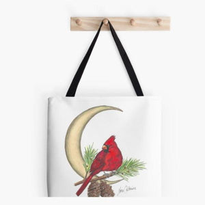 Cardinal Moon tote bag - Nora Catherine