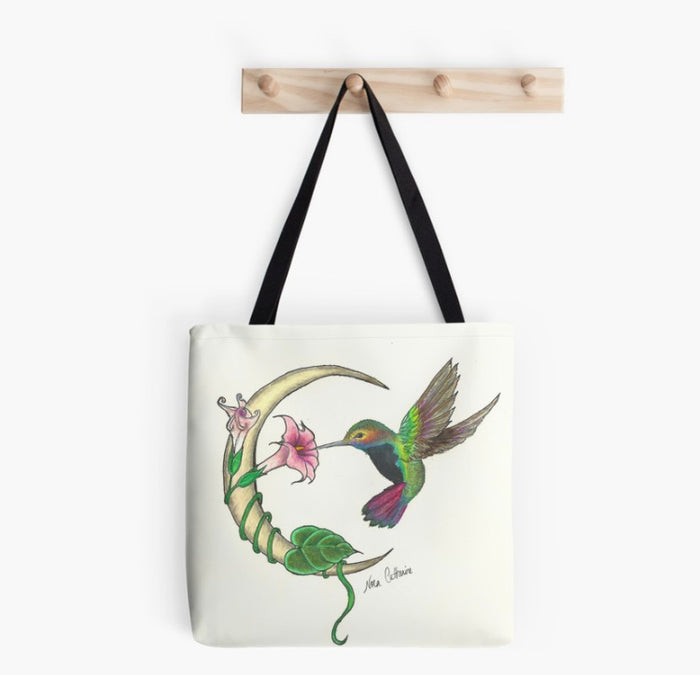 Hummingbird Moon tote bag