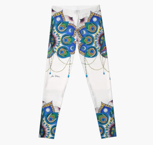 Peacock Mandala art legging - Nora Catherine