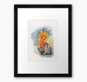 She Is Fire framed print - Nora Catherine