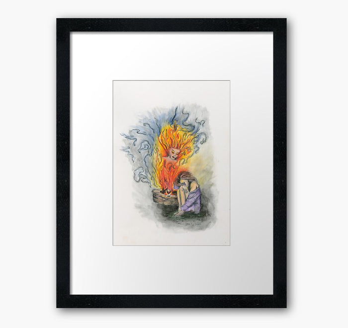 She Is Fire framed print