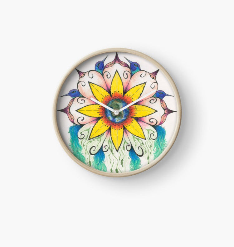 Symphony of Summer Wall Clock - Nora Catherine